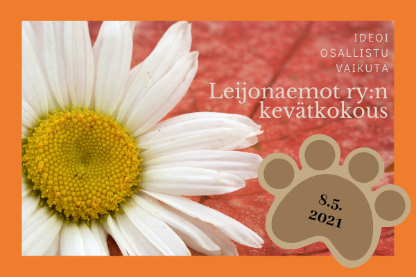 Leijonaemot ry:n kevätkokous